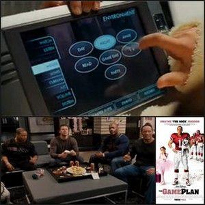 """En la película de Disney """"The Game Plan"""" se utiliza un MVP-8400i de AMX para controlar el entretenimiento el casa y otros sistemas. Imagen cortesía de Disney Studios."""